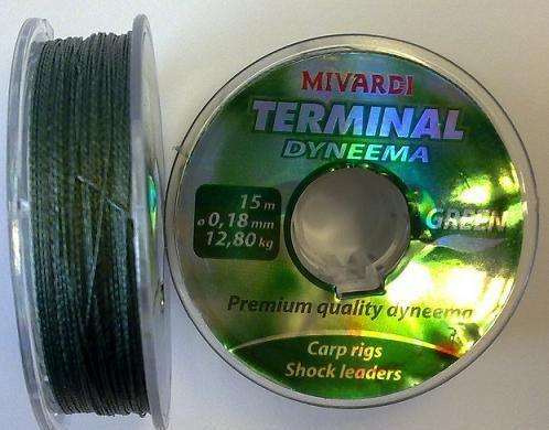 TERMINAL DYNEEMA-GREEN 0,18mm 15mt