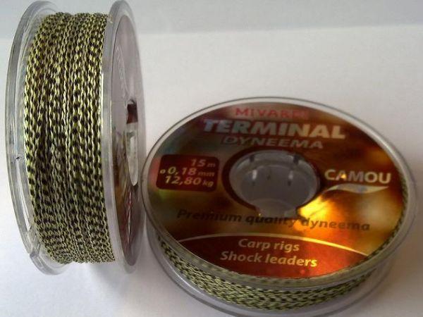 TERMINAL DYNEEMA-CAMOU 0,26mm 15mt